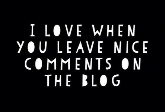 On Blog Comments…