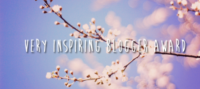 I've been nominated for a Very Inspiring Blogger award!