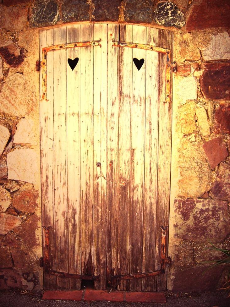 rusty french door