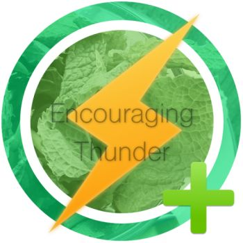 encouraging thunder